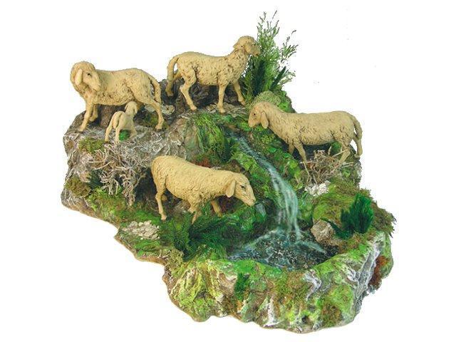 Gruppo pecore in movimento cm. 30