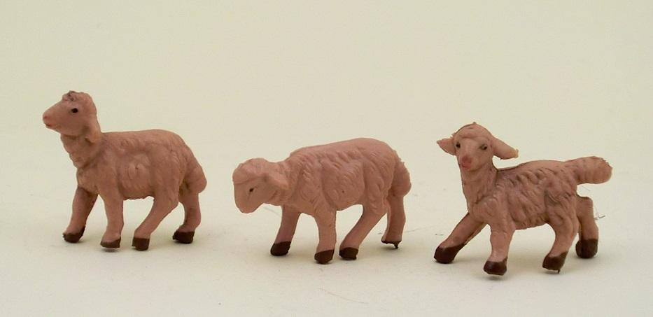 Serie 3 pecore sfumate cm. 6,5