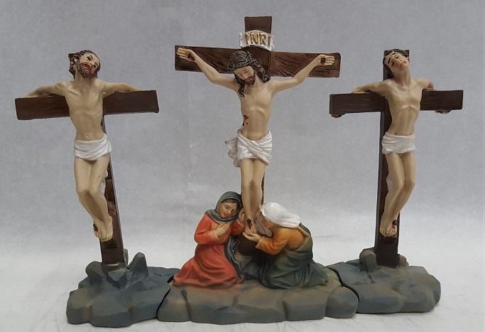 Gesù crocifisso tra i ladri (4 pz)