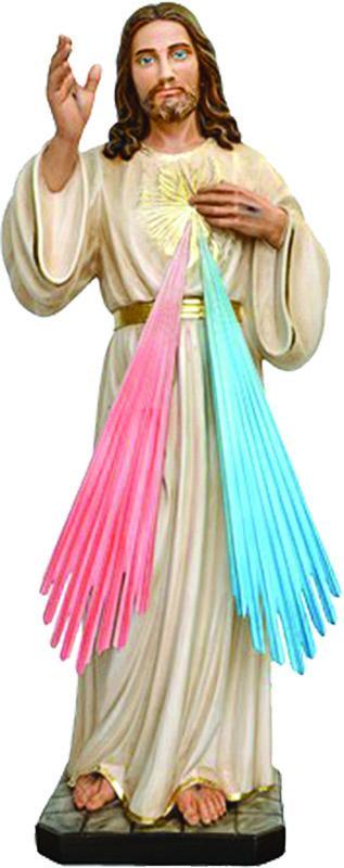 Gesù Misericordioso resina cm. 80