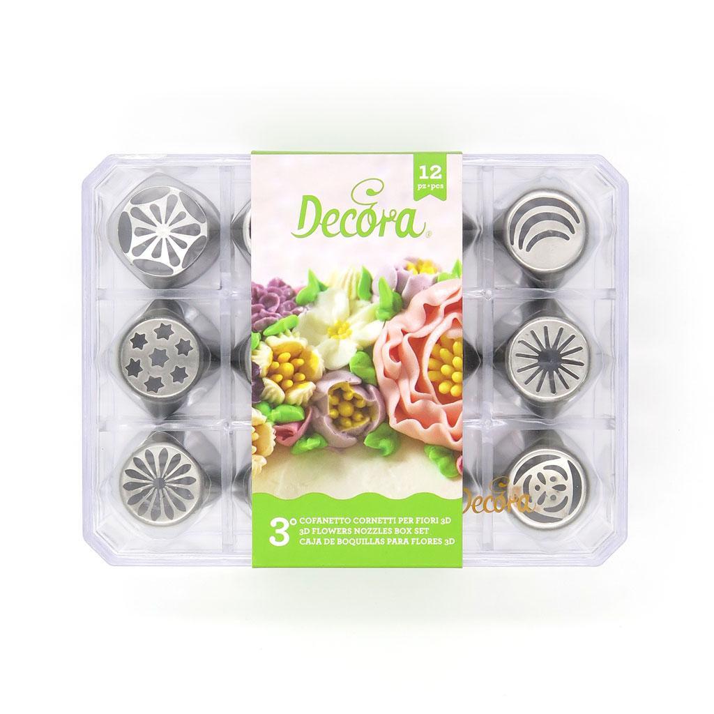 Cofanetto cornetti russi per fiori 3d