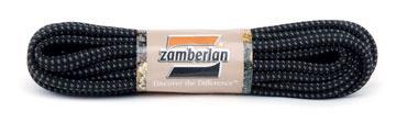 ZAMBERLAN® REPLACEMENT ROUND LACES    -   Black / Ash