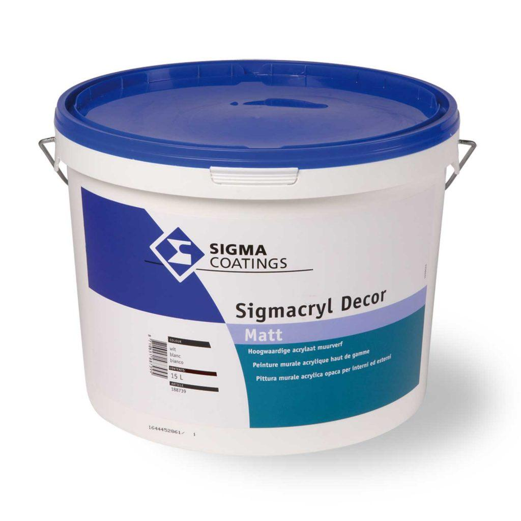 Pittura murale acrilica lavabile a basso impatto ambientale Sigmacryl Decor Matt 10 lt SIGMA (DISPONIBILE IN NEGOZIO)