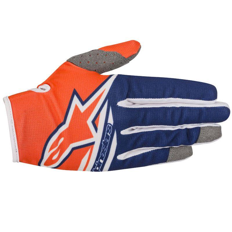 GUANTI MOTO CROSS ALPINESTARS 2018 RADAR ORANGE FLUO DARK BLUE