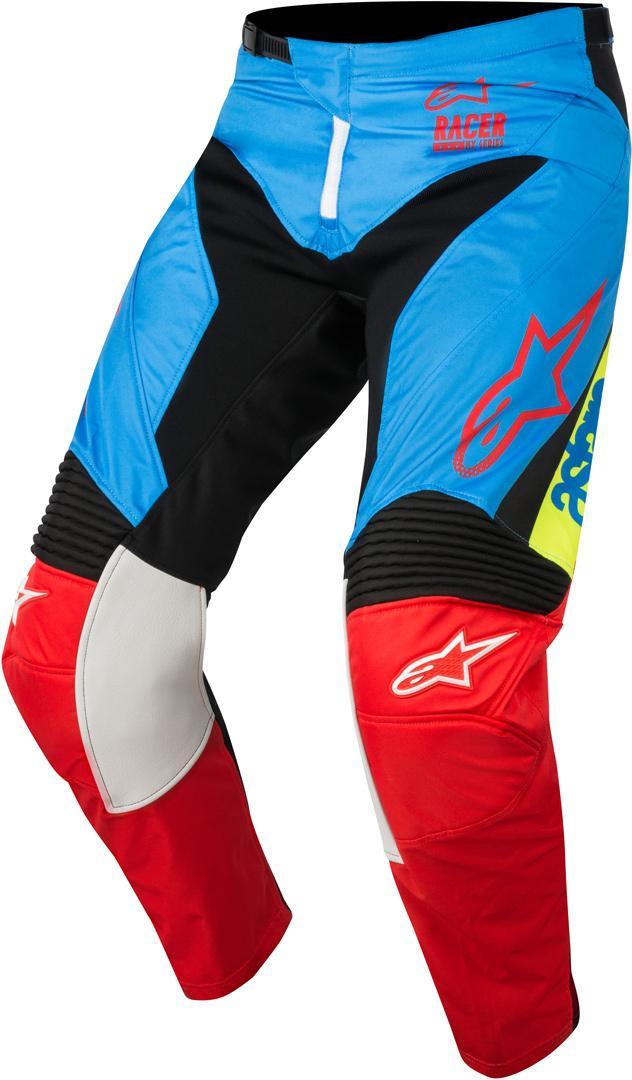 PANTALONI MOTO CROSS ALPINESTARS 2018 RACER SUPERMATIC AQUA BLACK RED