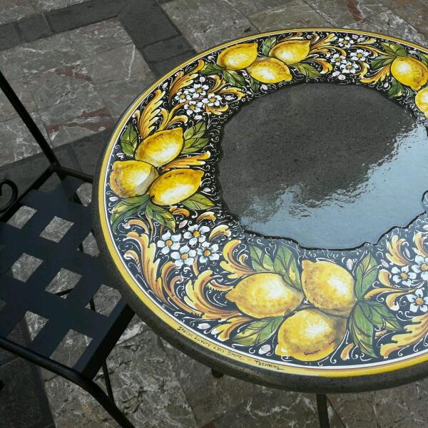 Tavolo in pietra lavica etna pietra lavica ceramizzata - Pietra lavica da tavolo ...