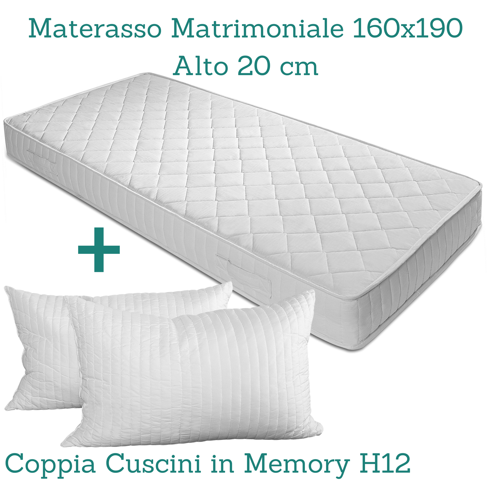Materasso h 20 cm in poliuretano o waterfoam ortopedico for Materasso poliuretano