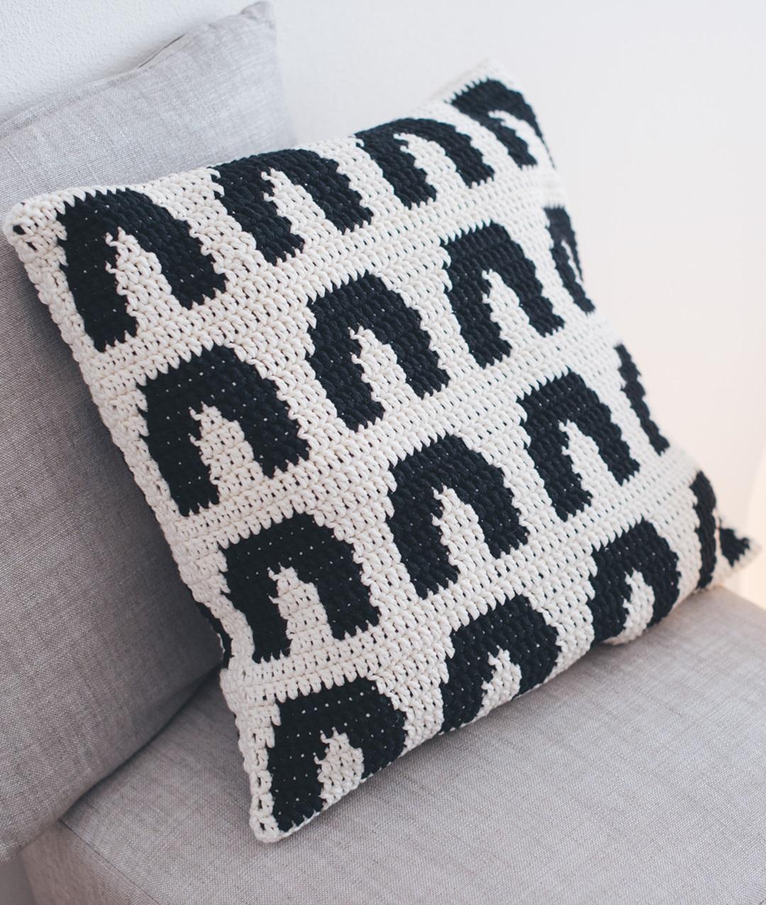 Kaari Pillow Kit Uncinetto Cotone Per Accessori Casa Online Schema