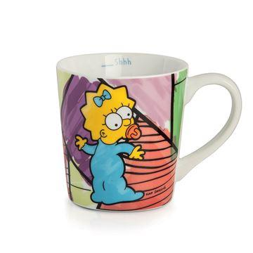 TAZZA ALTA MUG MAGGIE SIMPSON IN PORCELLANA, EGAN