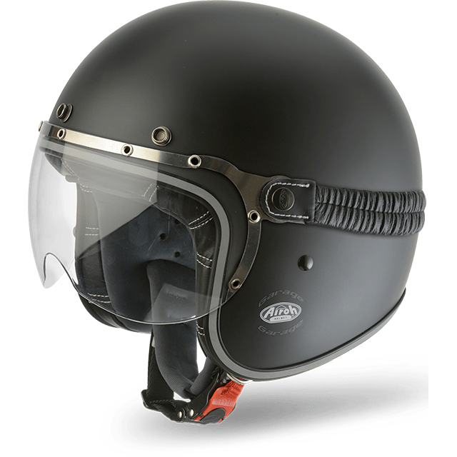 CASCO MOTO AIROH JET GARAGE COLOR BLACK MATT GA11