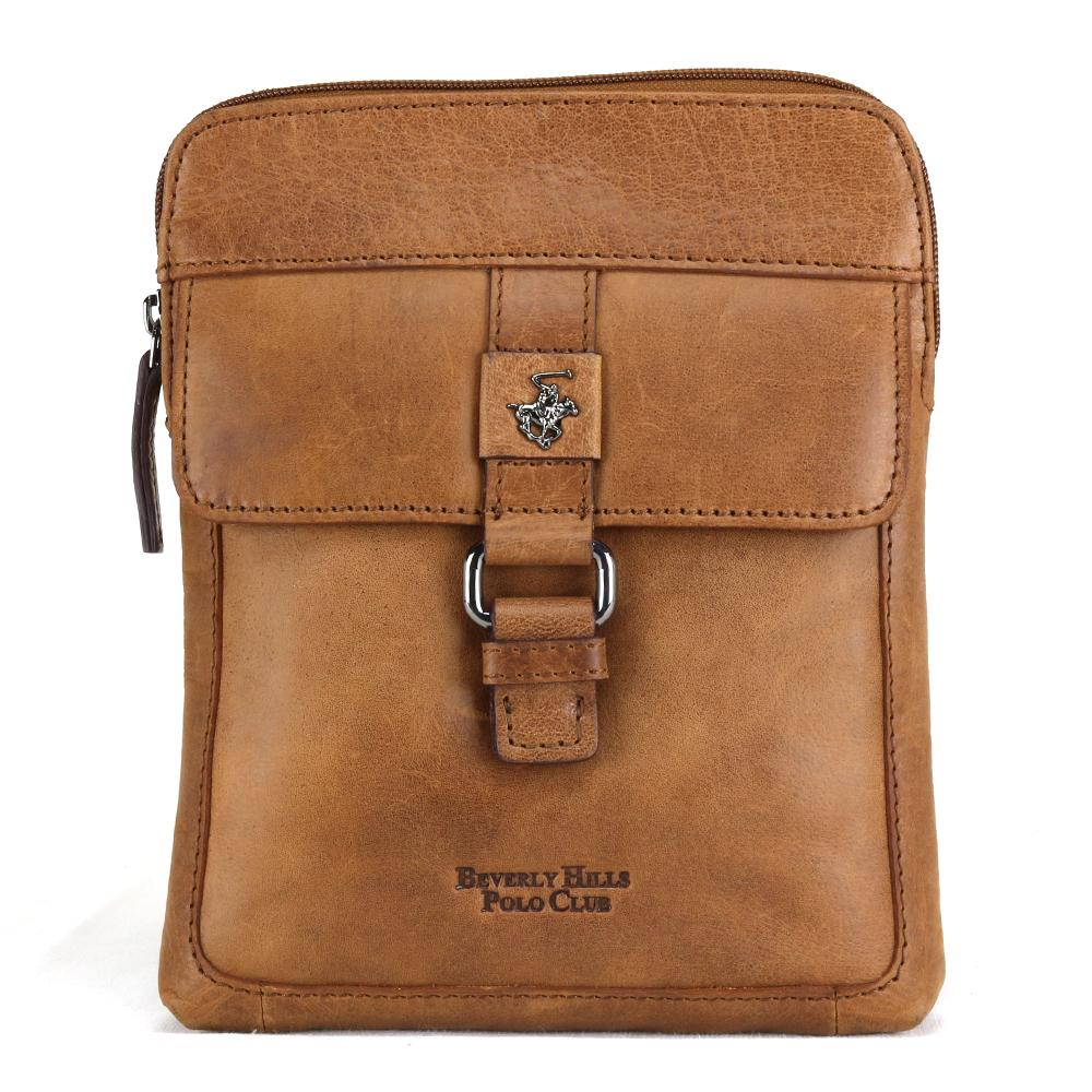 Shoulder bag Beverly Hills Polo Club BERLINO BH-1120 BRANDY
