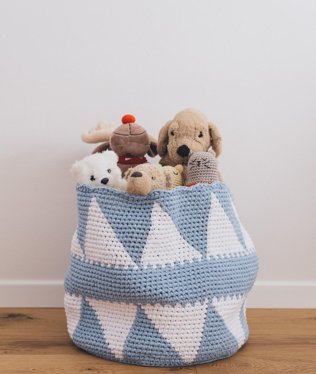 Kids Home Decor Collection - Homeware - HAPPY TOYS BASKET - 1