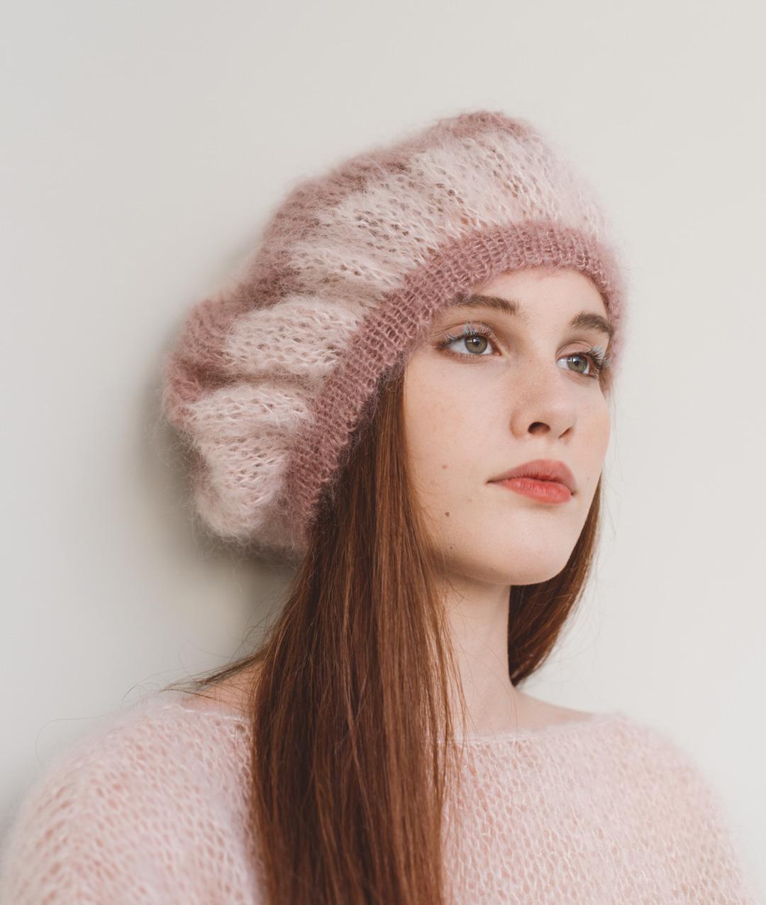 Mohair Mania Collection - Hats and BeaniesMohair Mania Collection - Hats and Beanies - Le  Marais Beret - 1