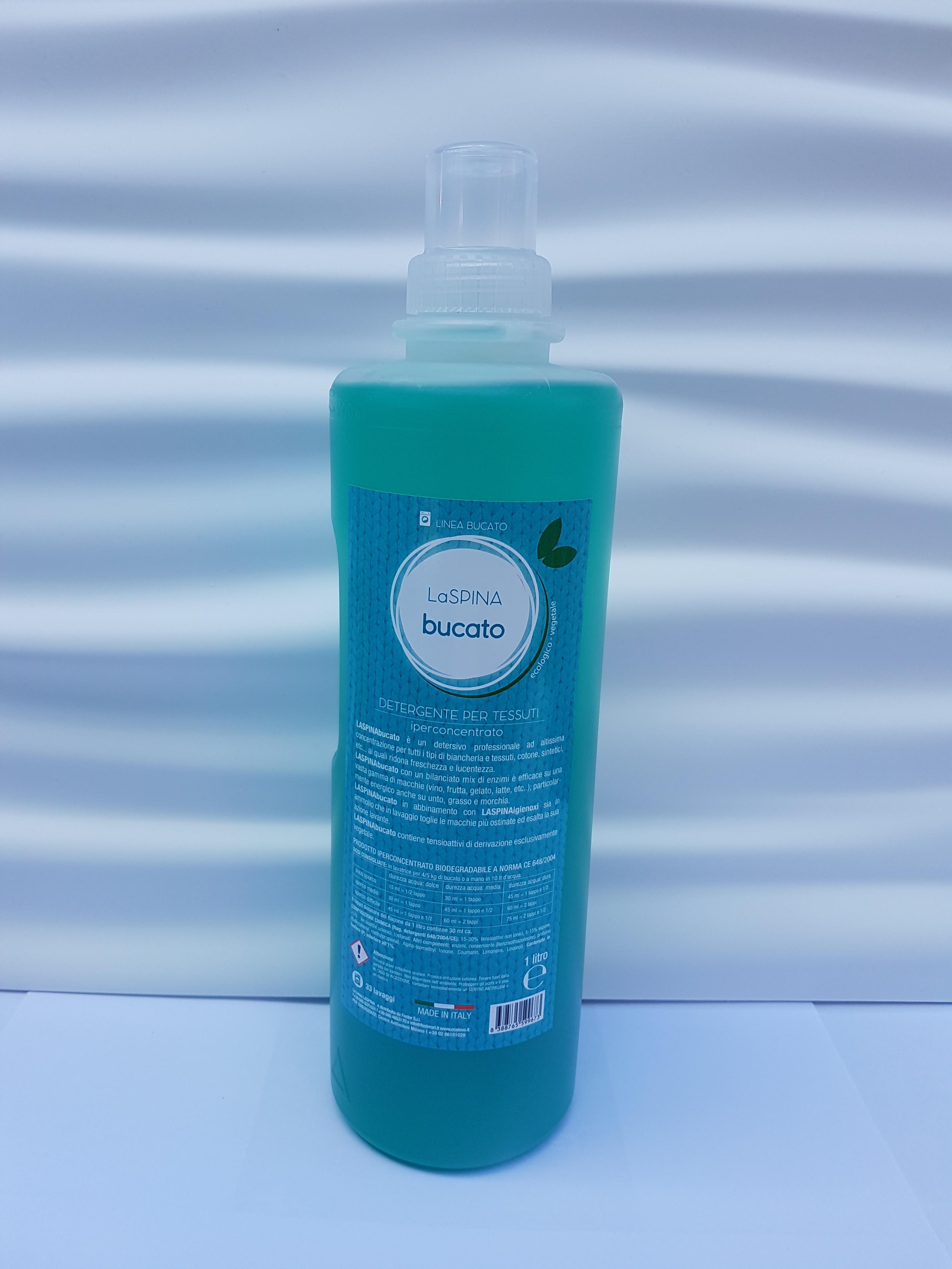Detergente Iperconcentrato per Tessuti 1lt LaSpina Bucato