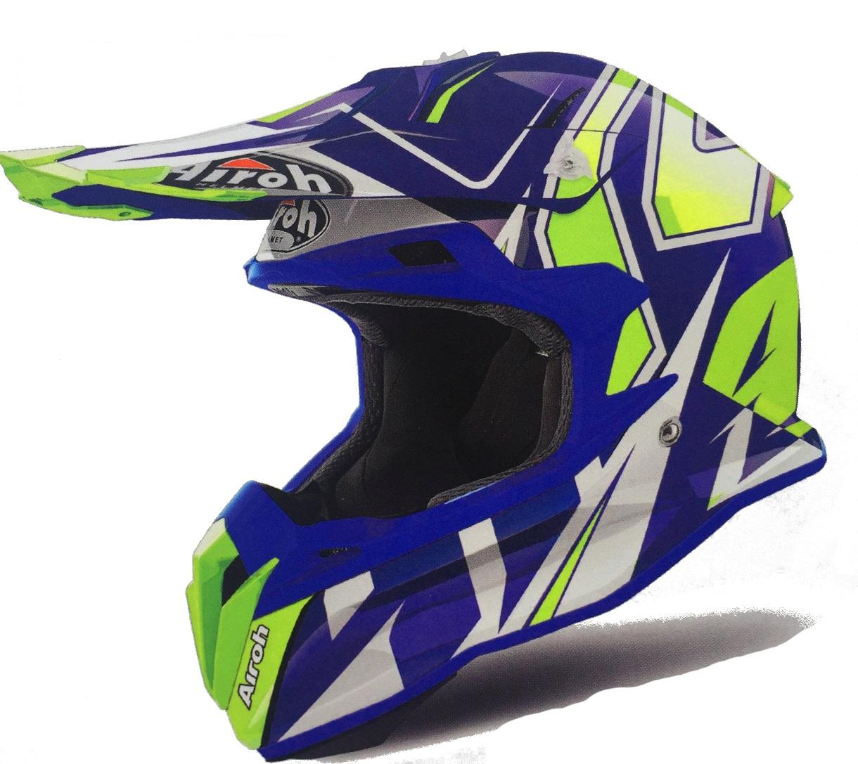 CASCO MOTO CROSS AIROH TERMINATOR 2018 SHOCK BLUE GLOSS TOVSH18