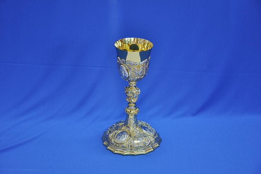 Calice Barocco bicolore con Coppa in Argento