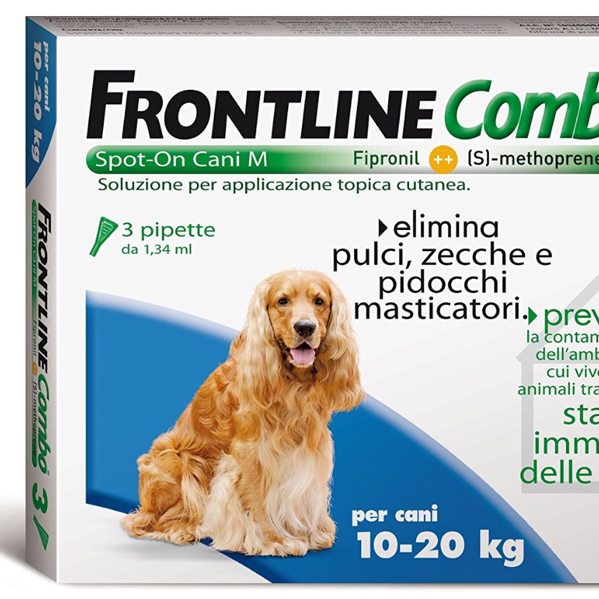 FRONTLINE COMBO spot-on CANE 10 - 20 KG MERIAL  conf.3PIP
