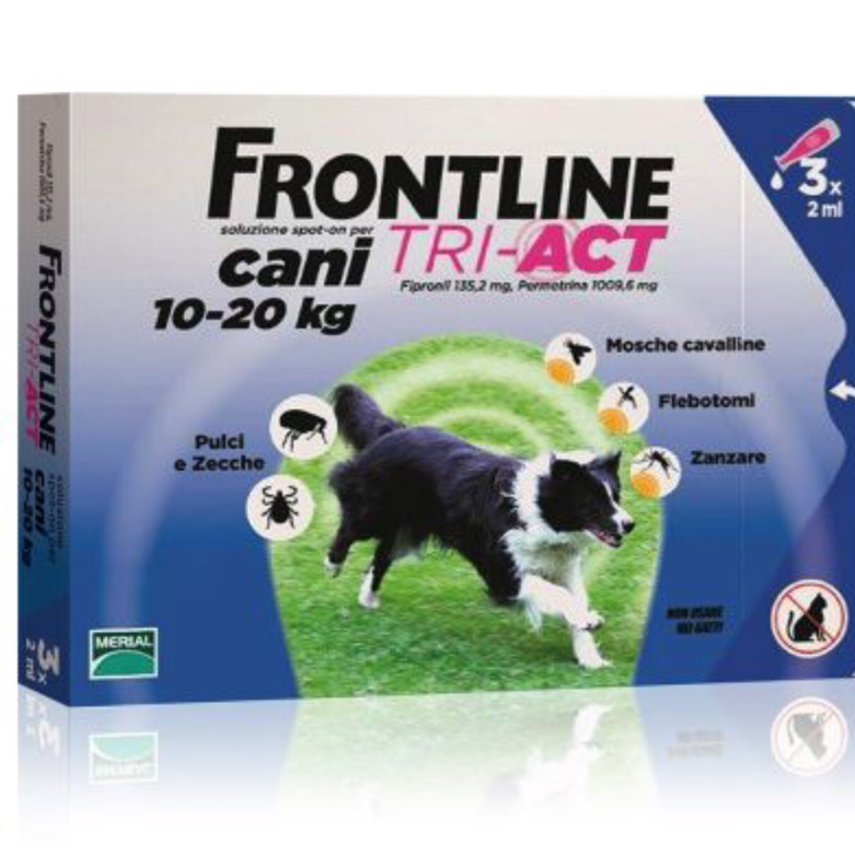 FRONTLINE TRI-ACT SPOT-ON CANI 10 - 20 KG MERIAL  conf.3PIP