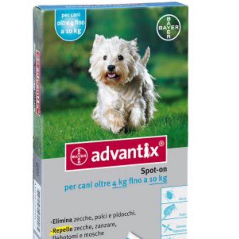 ADVANTIX CANI 4-10 KG BAYER  conf.4PIP