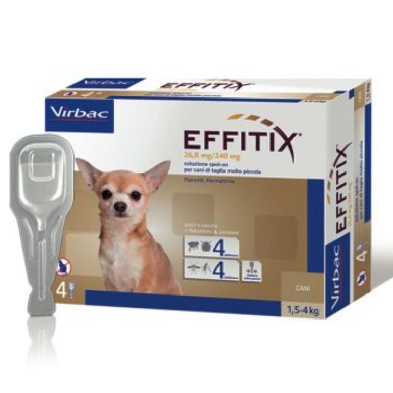 EFFITIX spot-on CANE 1,5 - 4 KG VIRBAC  conf.4PIP