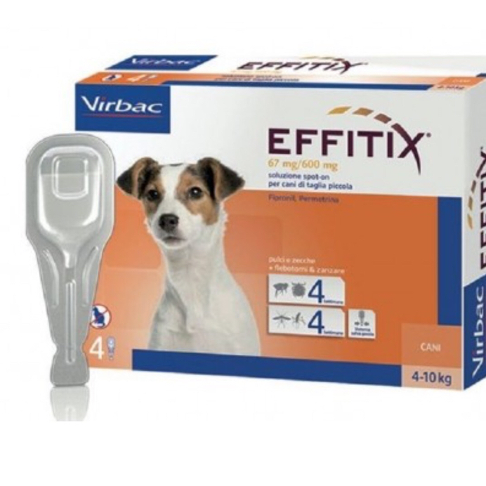 EFFITIX CANE spot-on 4-10 KG VIRBAC  conf.4PIP