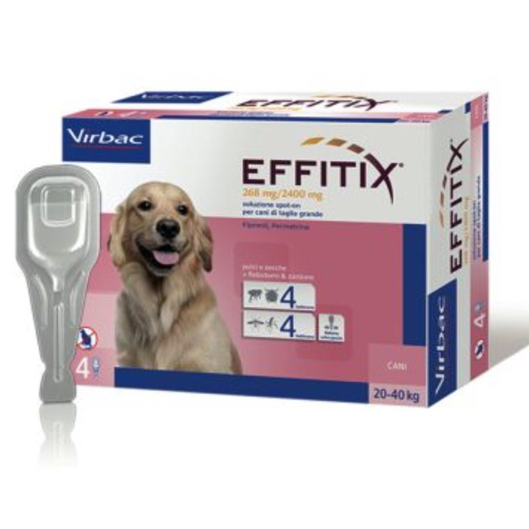 EFFITIX spot-on CANE 20-40 KG VIRBAC  conf.4PIP