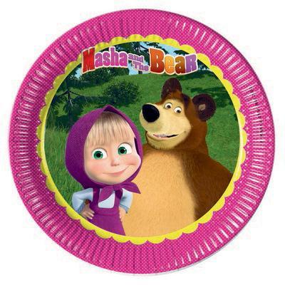 Masha e Orso piatti festa 23 cm