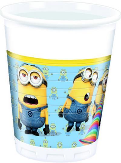Cattivissimo Me Minions bicchieri plastica festa 200ml