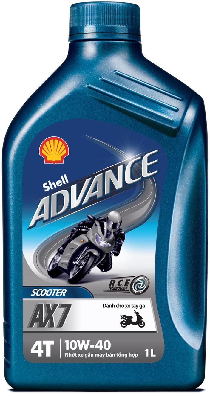 Shell Advance 4T AX7 10w/40 barattolo 1 litro