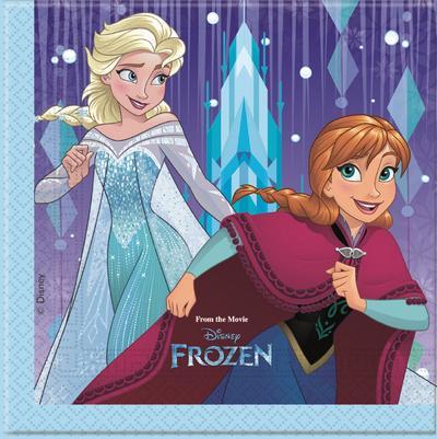 Disney Frozen Snowflakes tovaglioli festa 33x33cm