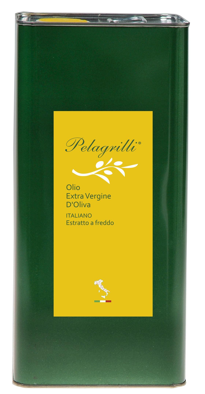 ITALIANO GREZZO Nuovo Raccolto 2018-2019 olio extra vergine di oliva Italiano estratto a freddo lt. 3