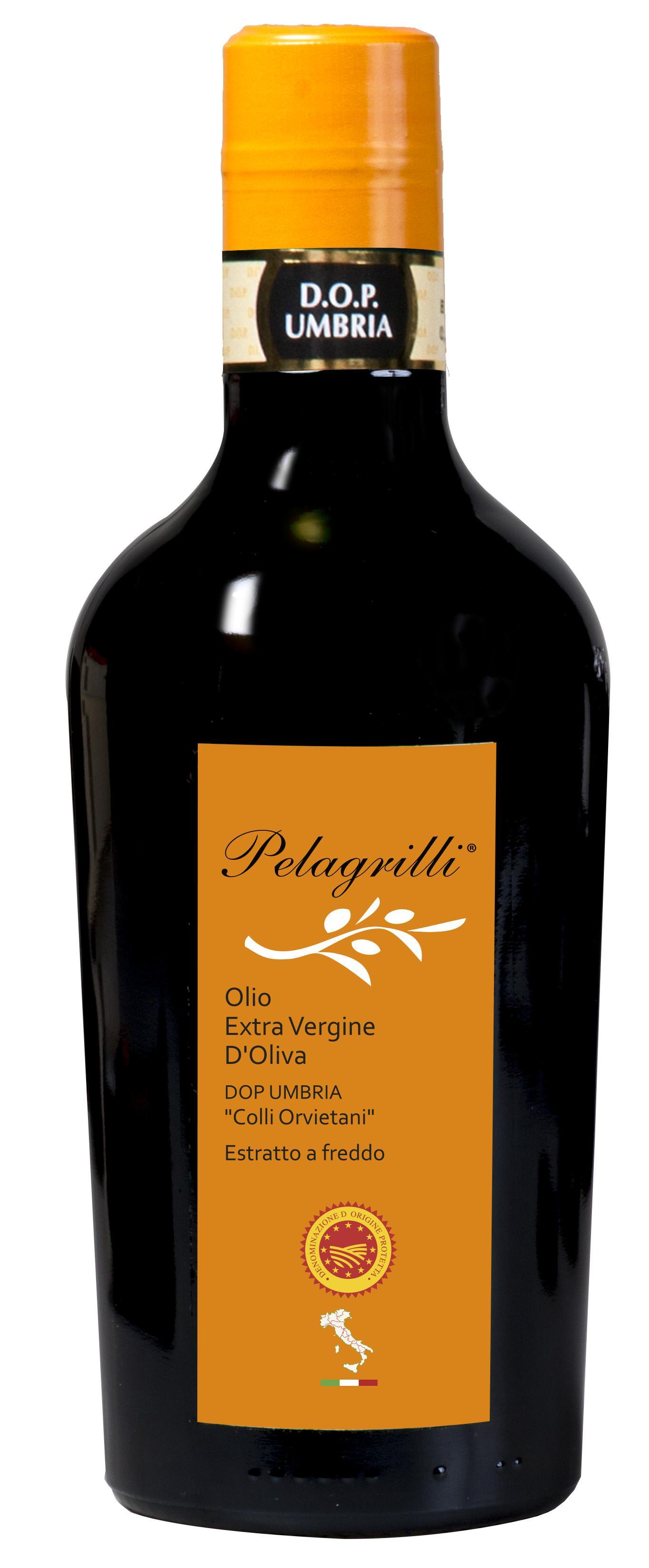 DOP UMBRIA Colli Orvietani Nuovo Raccolto 2018-2019 olio extra vergine di oliva Italiano estratto a freddo lt. 0,5