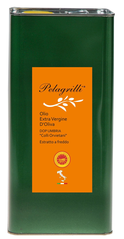 DOP UMBRIA Colli Orvietani Nuovo Raccolto 2018-2019 olio extra vergine di oliva Italiano estratto a freddo lt. 3