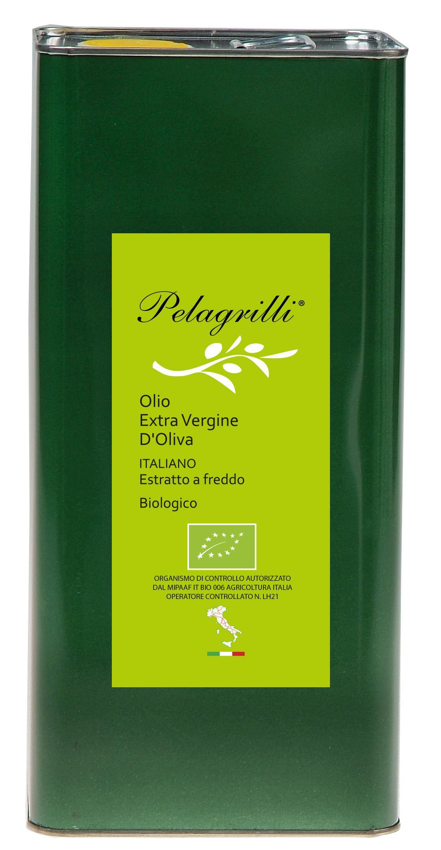BIOLOGICO ITALIANO Nuovo Raccolto 2018-2019 olio extra vergine di oliva Italiano estratto a freddo lt. 3