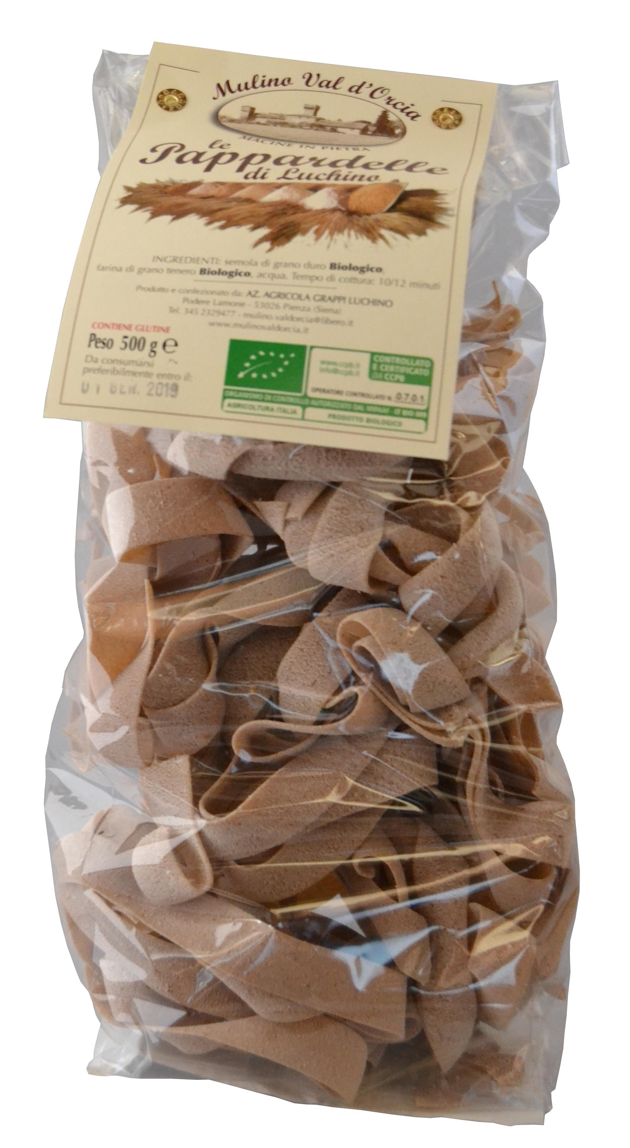 Pappardelle con farine Biologiche confezione da gr. 500