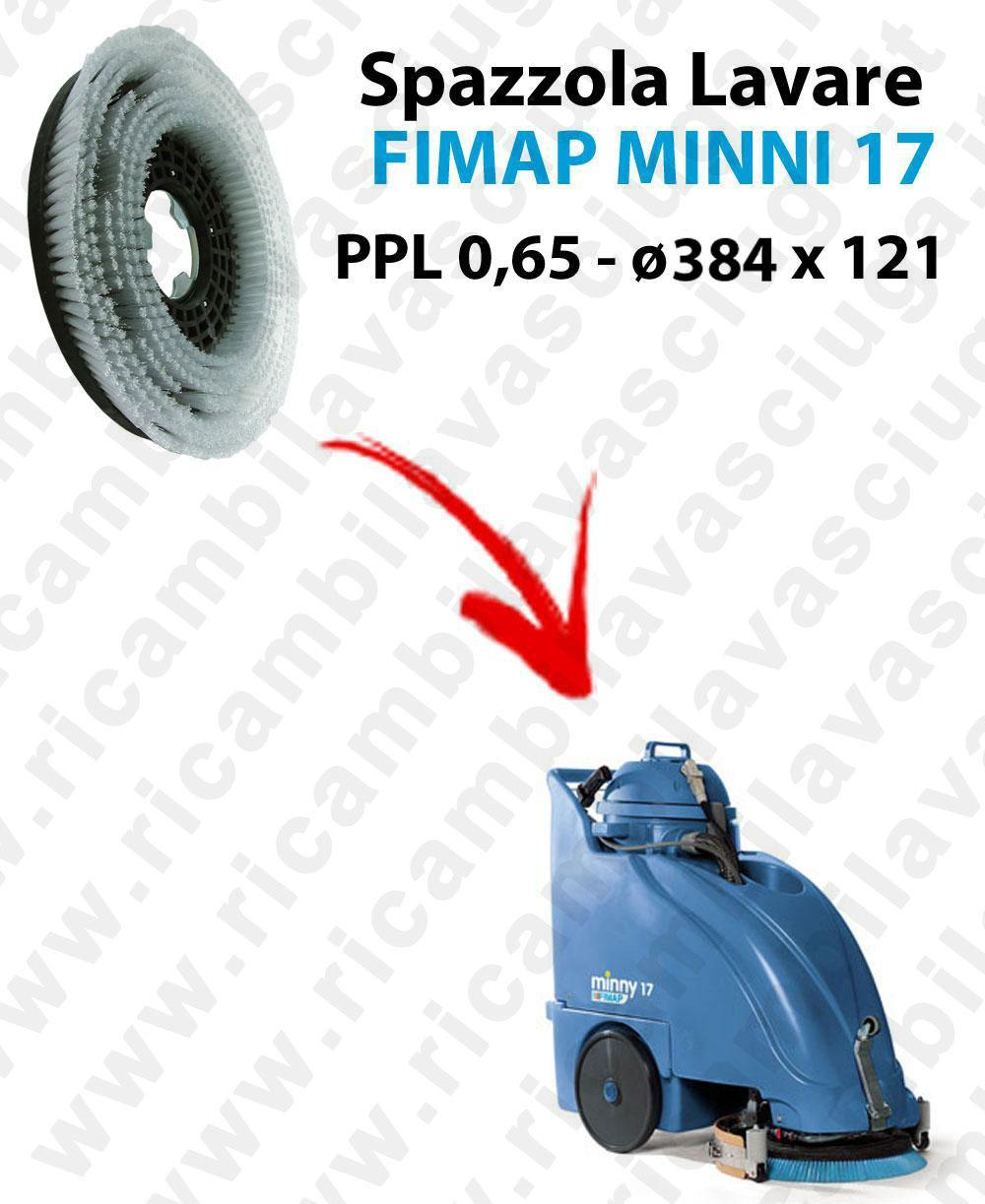 Cleaning Brush for scrubber dryer FIMAP MINNY 17. Model: PPL 0,65  ⌀384 X 121