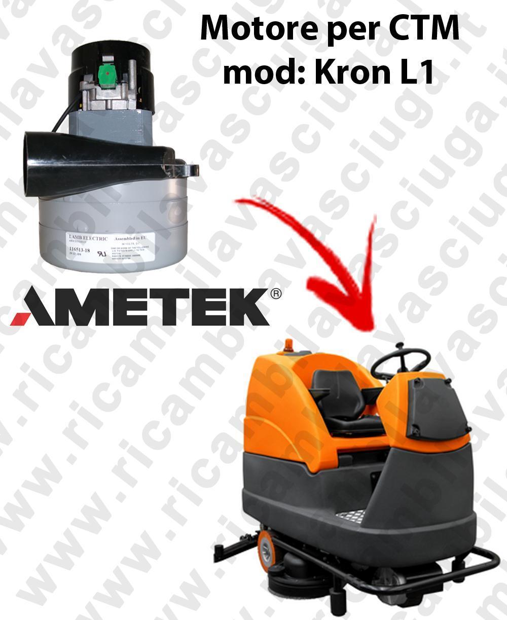 KRON L1 LAMB AMETEK vacuum motor for scrubber dryer CTM