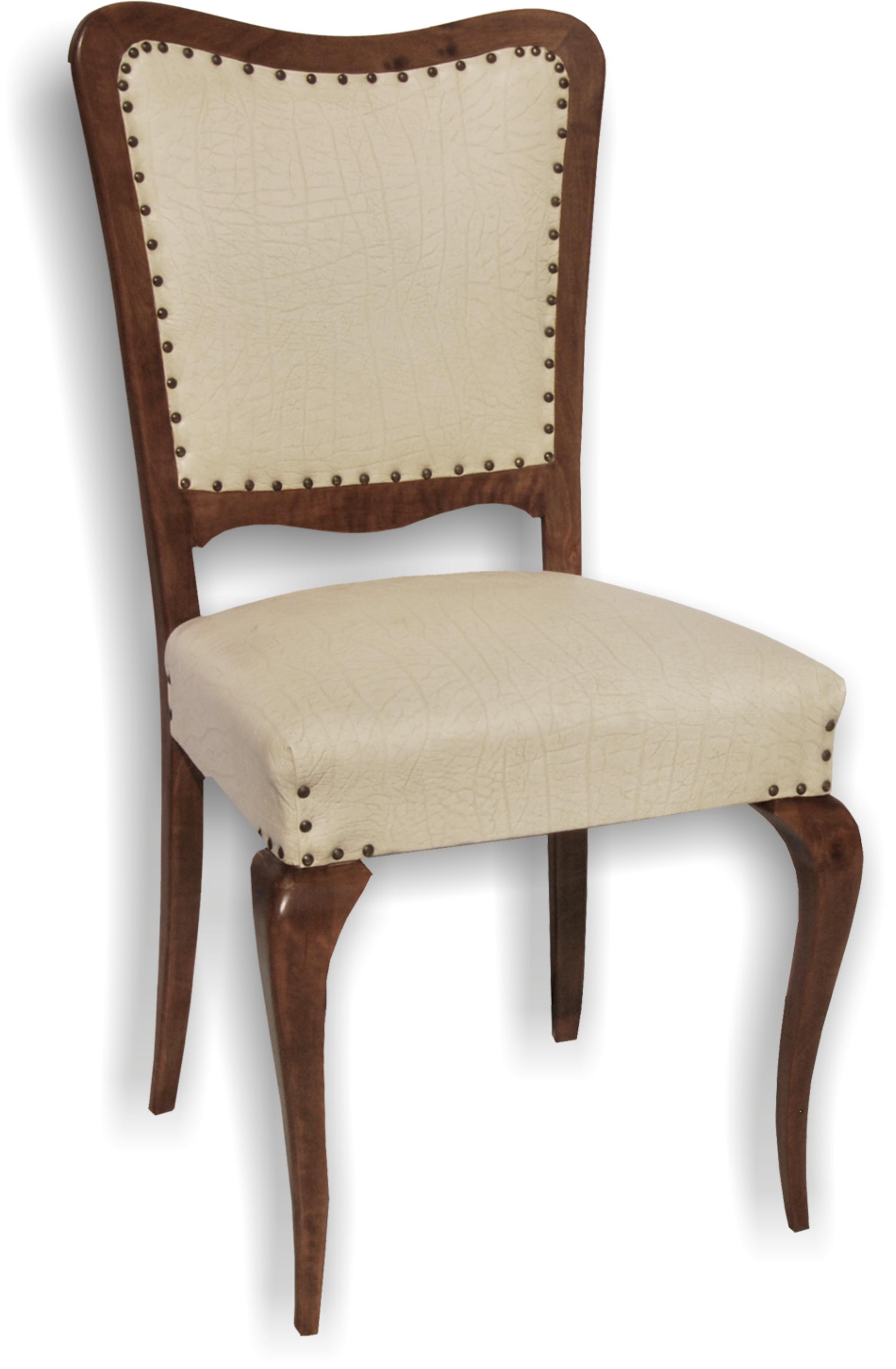 Set di 4 sedie in noce anni '60