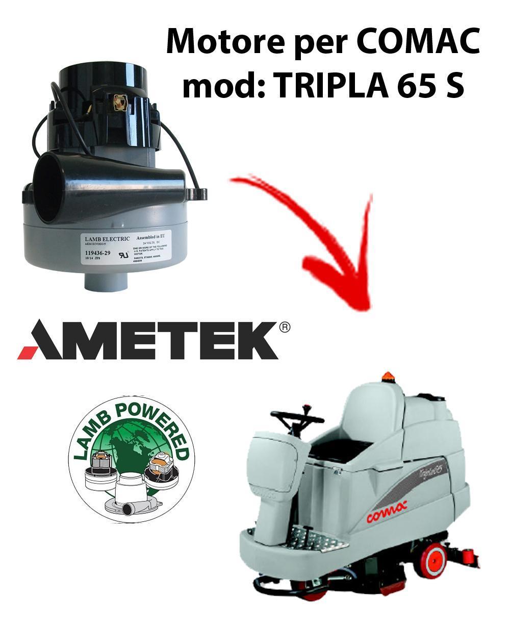 Tripla 65S Ametek Vacuum Motor for scrubber dryer Comac a partire dal 2009