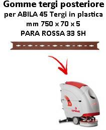 ABILA 45 Back Squeegee rubber Comac Plastic Squeegee