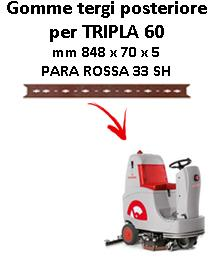 TRIPLA 60 B Back Squeegee rubber Comac