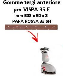 VISPA 35 E Front Squeegee rubber Comac