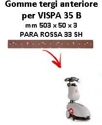 VISPA 35 B Front Squeegee rubber Comac