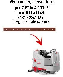 OPTIMA 100 B Back Squeegee rubber Comac