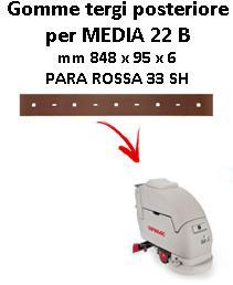 MEDIA 22 B  Back Squeegee rubber Comac
