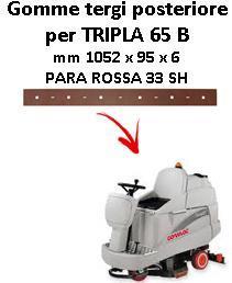 TRIPLA 65 B Back Squeegee rubber Comac