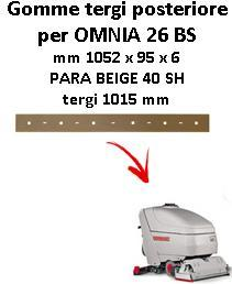 OMNIA 26 BS  Back Squeegee rubber Comac