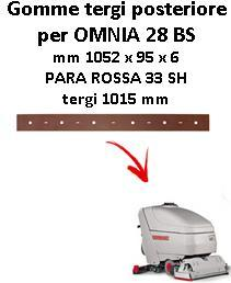 OMNIA 28 BS  Back Squeegee rubber Comac