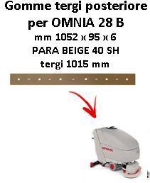 OMNIA 28 B  Back Squeegee rubber Comac