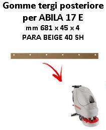 ABILA 17 E Back Squeegee rubber Comac
